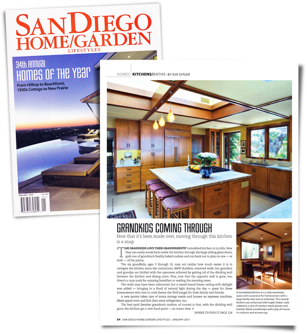 BMW BUILDERSu0027 Kitchen Remodel Featured In The January 2013 Issue Of San  Diego Home/Garden Lifestyles Magazine! Click Below To Read The Article.